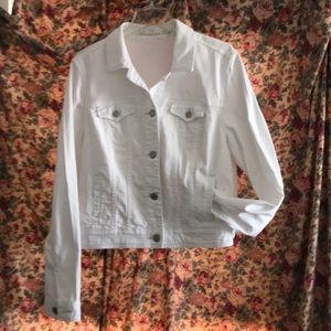 American Eagle White Jean Style Jacket